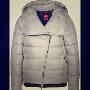 Nike Puffer Silver Iridescent Jacket